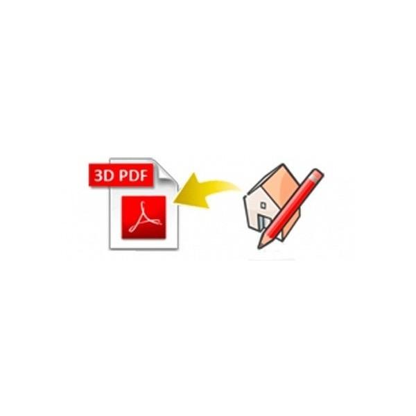 3D PDF exporter for SketchUp (EN, WIN/MAC, LIC)