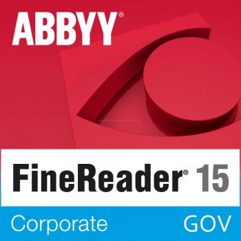 GOV - ABBYY FineReader 15 Corporate (pojedynczy użytkownik) licencja wieczysta
