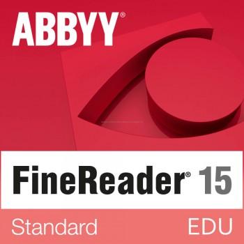 EDU - ABBYY FineReader 15 Standard (pojedynczy użytkownik) licencja wieczysta
