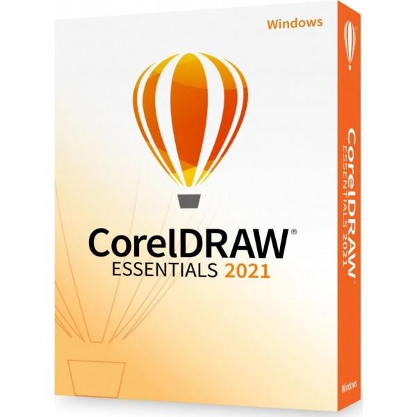 CorelDRAW® Essentials 2021 (POLSKI) - licencja komercyjna, domowa- WINDOWS- lic. wieczysta, pudełkowa