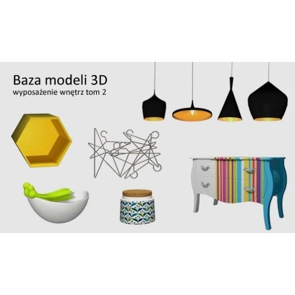 Baza Modeli 3D - wyposażenie wnętrz tom 2